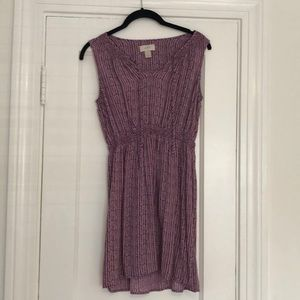 Purple & White sun dress